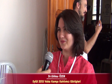 Dr. Göksu ÖZER - Eylül 2015 İstanbul Vaka Kampı Röportajları