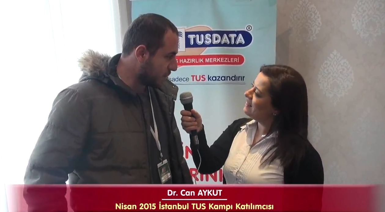 Dr. Can AYKUT - Nisan 2015 İstanbul TUS Kampı Röportajları