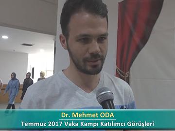 Dr. Mehmet ODA - 2017 Yaz Dönemi Ankara Vaka Kampı Röportajları