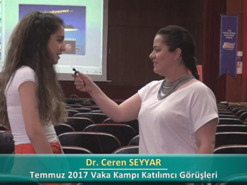 Dr. Ceren SEYYAR - 2017 Yaz Dönemi Haseki Vaka Kampı Röportajları