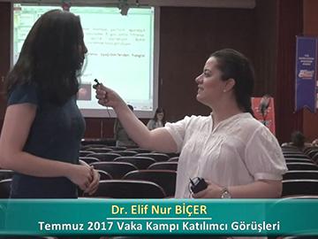 Dr. Elif Nur BİÇER - 2017 Yaz Dönemi Haseki Vaka Kampı Röportajları