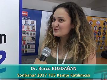 Dr. Burcu BOZDAĞAN - Sonbahar 2017 Ankara TUS Kampı Röportajları