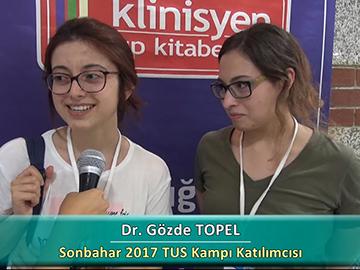Dr. Gözde TOPEL - Dr. Defne AMAS - Sonbahar 2017 Ankara TUS Kampı Röportajları