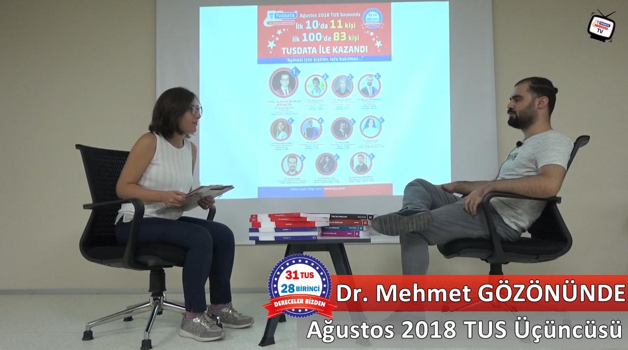 Ağustos 2018 TUS 3.'sü - Dr. Mehmet GÖZÖNÜNDE ile TUS'a Hazırlık Süreci