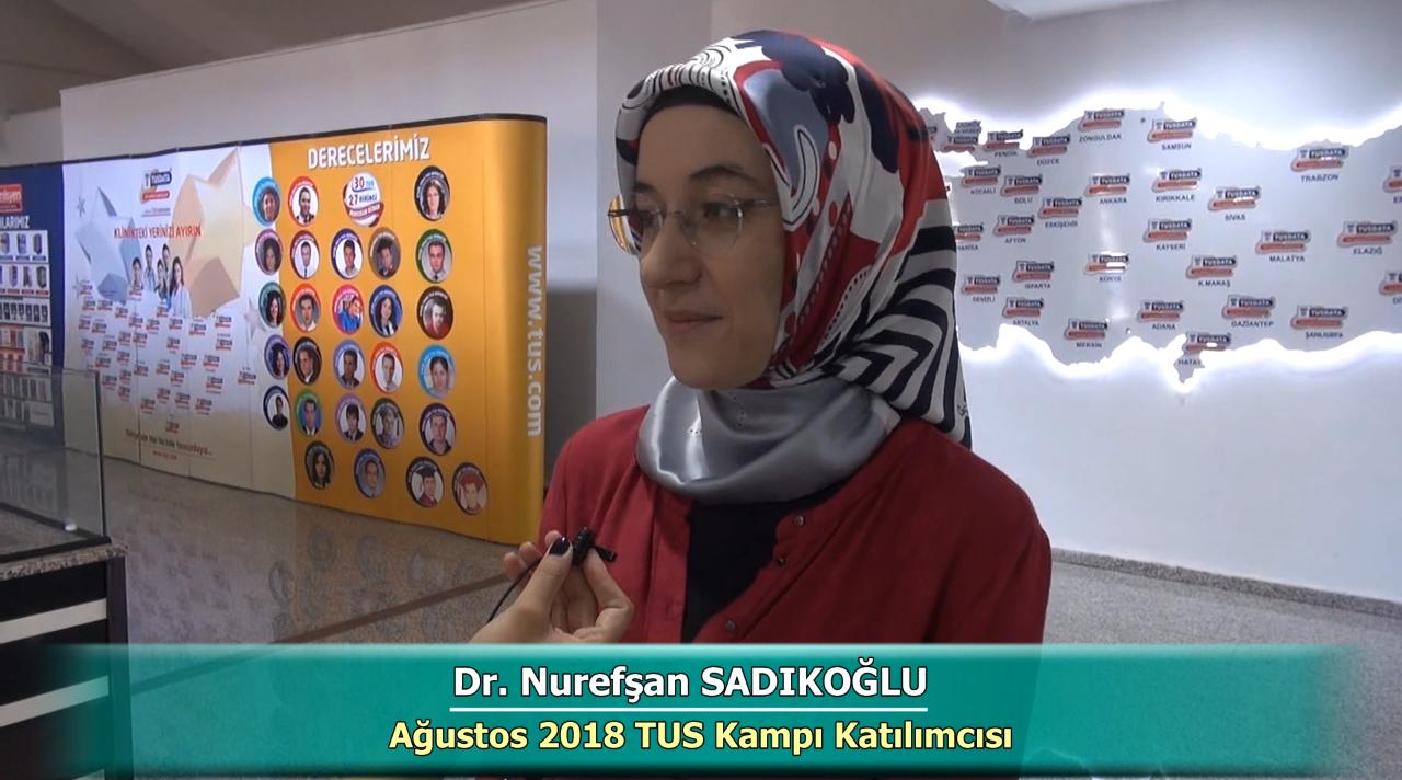 Dr. Nurefşan SADIKOĞLU - Ağustos 2018 Ankara TUS Kampı Röportajları