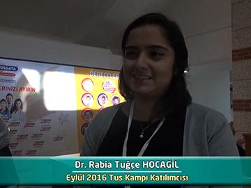Dr. Rabia Tuğçe HOCAGİL - Eylül 2016 Kocatepe TUS Kampı Röportajları