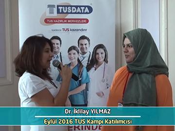 Dr. iklilay Yılmaz - Eylül 2016 İstanbul TUS Kampı Röportajları
