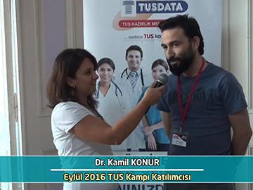 Dr. Kamil Konur - Eylül 2016 İstanbul TUS Kampı Röportajları