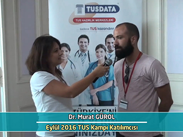 Dr. Murat Gürol - Eylül 2016 İstanbul TUS Kampı Röportajları