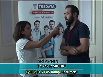 Dr. Yavuz Şahbat - Eylül 2016 İstanbul TUS Kampı Röportajları