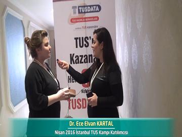 Dr. Ece Elvan KARTAL - Nisan 2016 İstanbul TUS Kampı