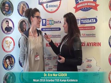 Dr. Ece Nur GÜDER - Nisan 2016 İstanbul TUS Kampı