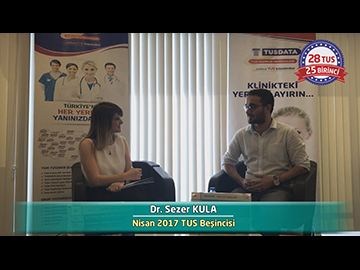 Nisan 2017 TUS Beşincisi - Dr. Sezer KULA