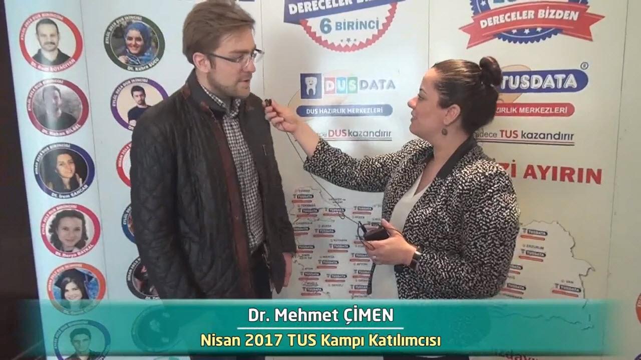 Dr. Mehmet ÇİMEN - Nisan 2017 İstanbul TUS Kampı Röportajları
