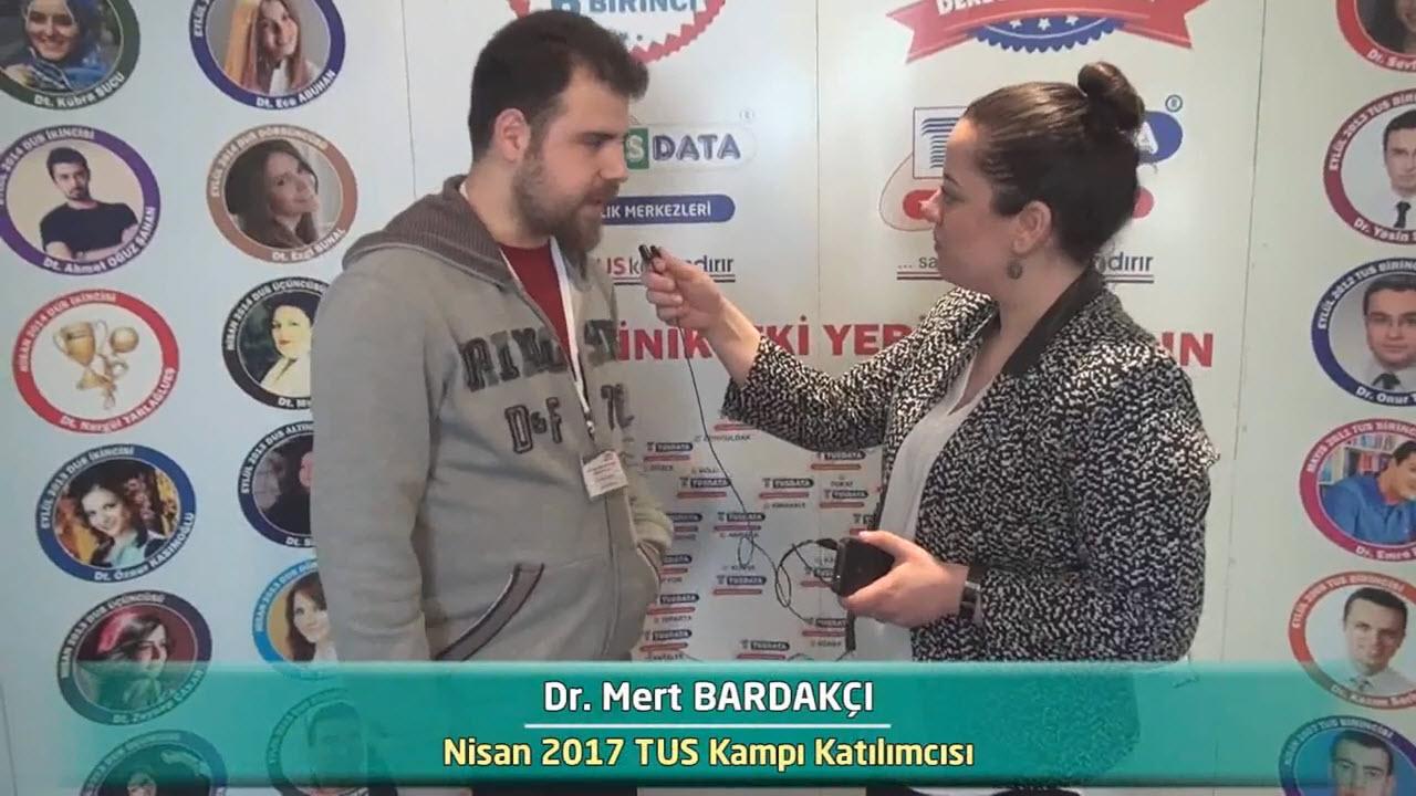 Dr. Mert BARDAKÇI - Nisan 2017 İstanbul TUS Kampı Röportajları