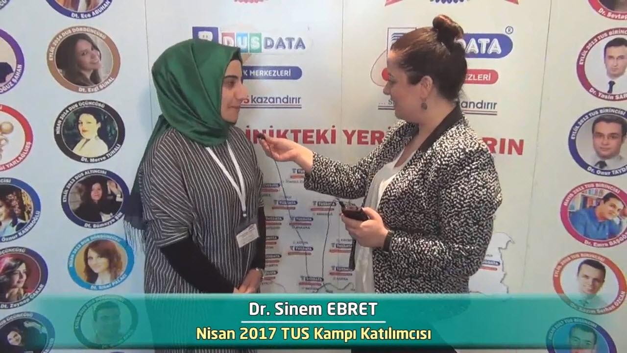 Dr. Sinem EBRET - Nisan 2017 İstanbul TUS Kampı Röportajları