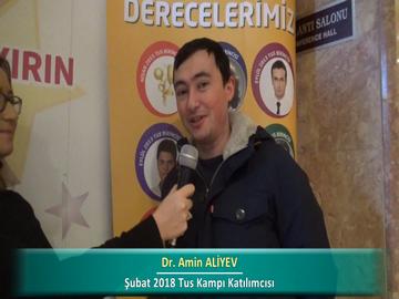 Dr. Amin ALİYEV – İlkbahar 2018 Ankara TUS Kampı Röportajları
