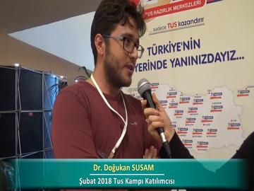 Dr. Doğukan SUSAM – İlkbahar 2018 Ankara TUS Kampı Röportajları