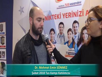 Dr. Mehmet Emin SÖNMEZ – İlkbahar 2018 Ankara TUS Kampı Röportajları