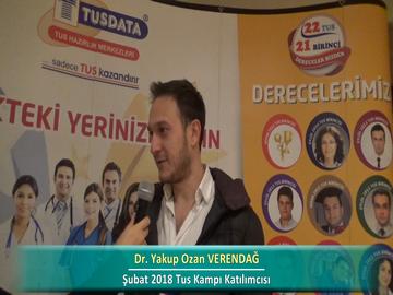 Dr. Yakup Ozan VERENDAĞ – İlkbahar 2018 Ankara TUS Kampı Röportajları