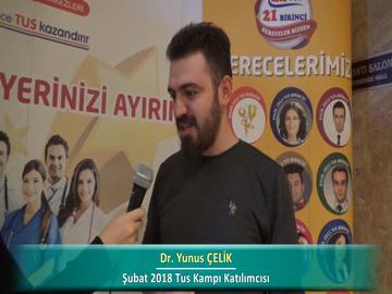 Dr. Yunus ÇELİK – İlkbahar 2018 Ankara TUS Kampı Röportajları