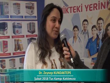 Dr. Zeynep KUNDAKTEPE – İlkbahar 2018 Ankara TUS Kampı Röportajları