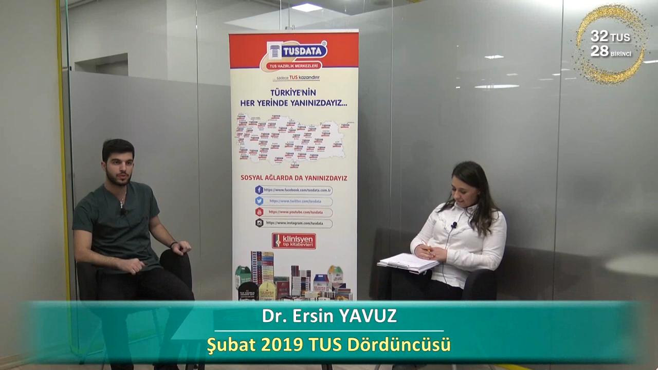 Şubat 2019 TUS 4.'si - Dr. Ersin YAYUZ ile TUS'a Hazırlık Süreci