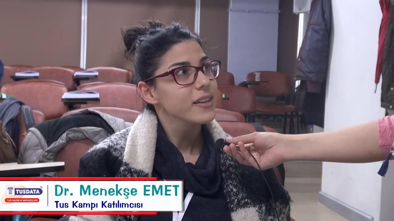 Dr. Menekşe EMET - Şubat 2019 TUS Kampı Röportajları